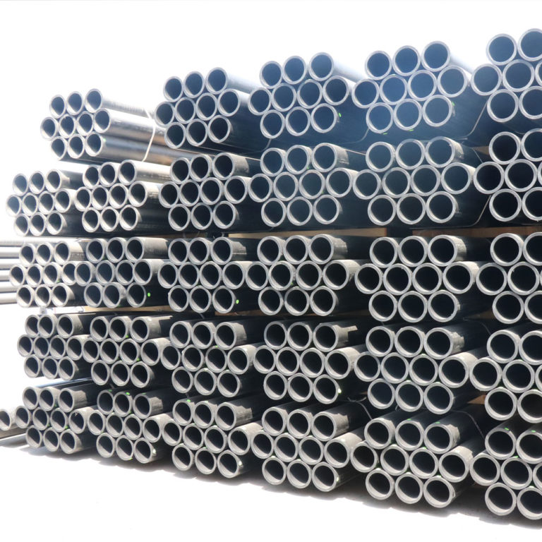 HDPE pipes in storage